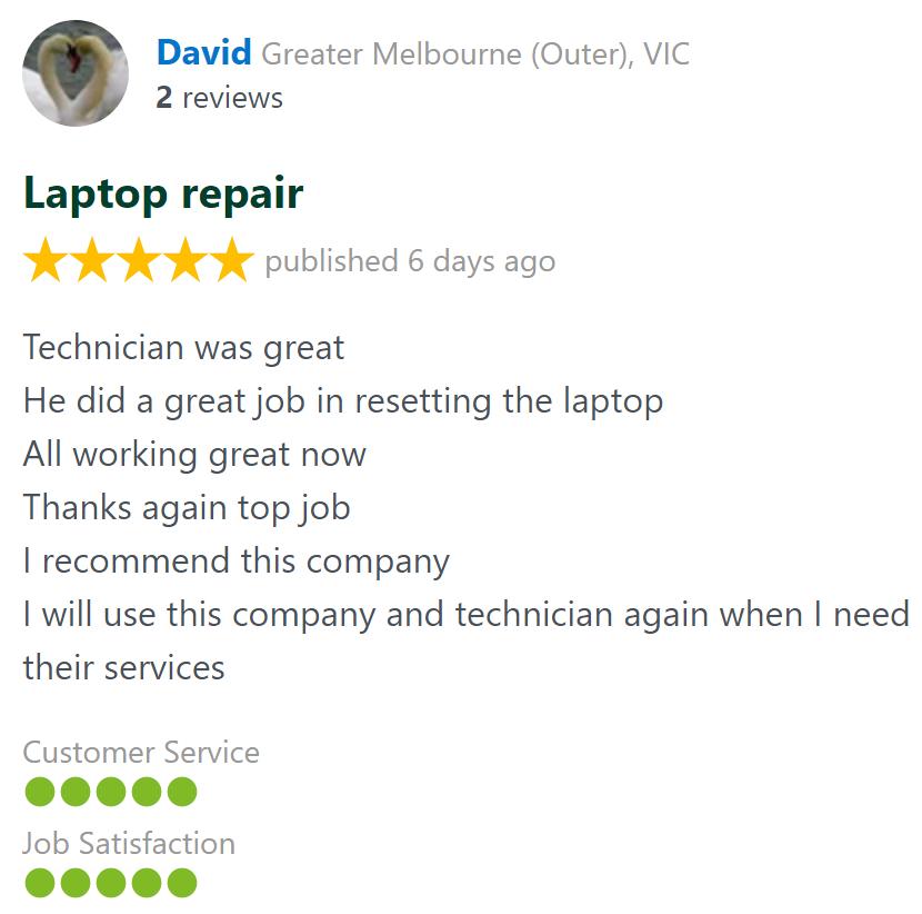 david computer laptop repair technician review